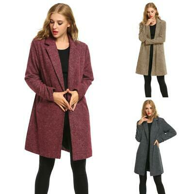 New Women Winter Casual Long Sleeve One Button Long Trench Coat CLSV 03