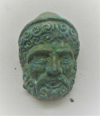 Circa 300-400Ad Roman Era Bronze Legionary Chariot Fitting With Face