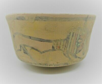 Ancient Indus Valley Harappan Terracotta Vessel With Bull Motifs 2000 Bc