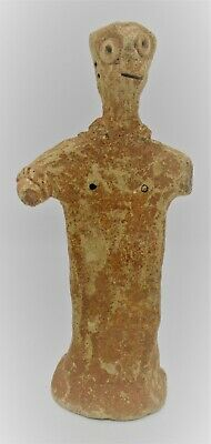 Circa 1000Bc Ancient Near Eastern Clay Worshipper Statuette Interesting Specimen