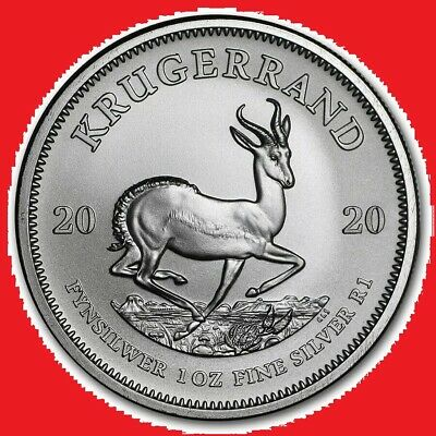 2020 1oz Silver Krugerrand 1 ounce bullion coin in coin capsule