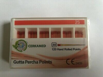 Dental Gutta Percha points .02 120 hand rolled points