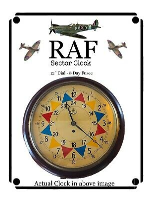 RAF Sector 12 Inch Dial Fusee Wall Clock