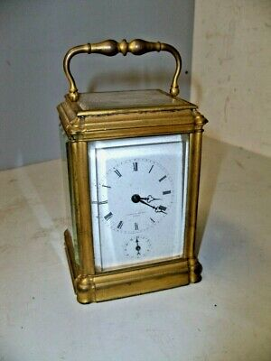 Antique French Gorge Case Time Strike & Alarm Carriage Clock