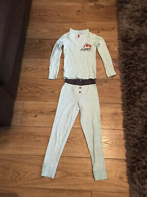 Marks And Spencer Pale Blue Snoopy Thermals 4-5yrs