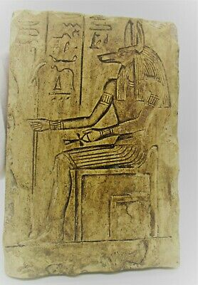 Ancient Egyptian Stone Carved Panel With Heiroglyphs