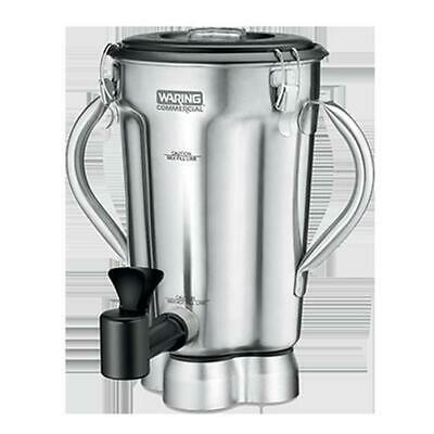Waring CAC125 128 oz Stainless Blender Container w/ Lid, Spigot & Blade