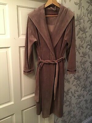 Ted Baker Womens Lilac Robe Dressing Gown With Hood Size 8 - 10