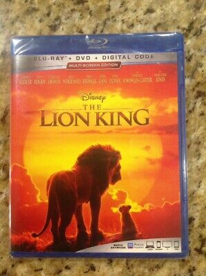The Lion King (Blu-ray Disc, 2019)NEW Authentic Disney US Release