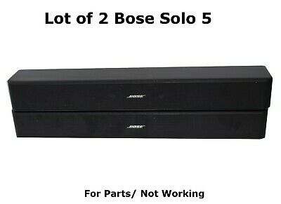 Lot of 2 BOSE Solo 5 TV Sound System Bluetooth Soundbar For Parts/ Not working