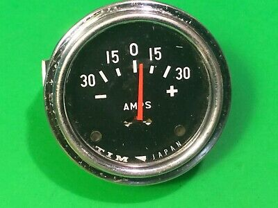"""Car amps gauge,-30-0-30+,Classic chrome TIM japan 34100,2"""" hole in dashboard"""