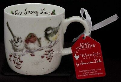Royal Worcester Wrendale Designs Christmas Mug One Snowy Day