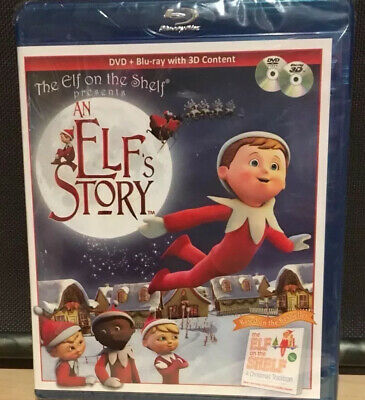 Brand New Factory Sealed  Elf on the Shelf  'An Elf's Story' DVD & Blu-ray w/ 3D