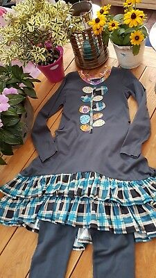 ★JELLY the PUG★traumhaftes JerseySET★12/146/152★tolle BlumeApplikation★SO GIRLY★