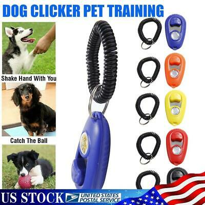 Puppy Behaviour Clicker Pet Whistle Puppy Dog Training Obedience Agility Keyring