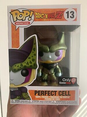 Funko Pop! Dragon Ball Z Metallic Perfect Cell #13 Gamestop Exclusive