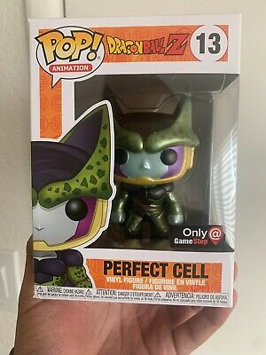 Funko Pop! Dragon Ball Z Metallic Perfect Cell #13 Gamestop Exclusive (DAMAGED)