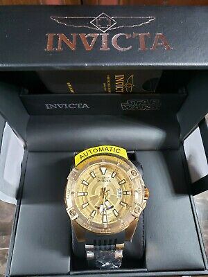 Invicta Star Wars Men's 52mm Automatic Steel Dial Watch - Gold