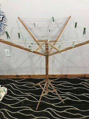 Antique Primitive Clothes Drying Rack-collapsible