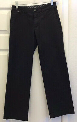 Quiksilver Boys Chino Pants Size 24 Black Straight Excellent Condition