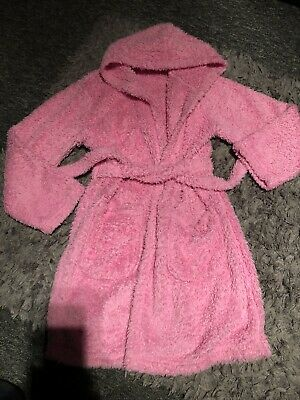 Girls Pink Fluffy Dressing Gown Age 9-10 Yrs
