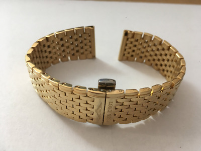 Longines Gents Watch Strap,18Mm,Yellow Gold Plated,New.