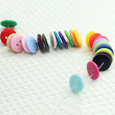 300x Resin Buttons Mixed colors craft Scrapbook sewing 2 Holes Round 15mm New