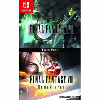 Final Fantasy 7 VII & 8 VIII Twin Pack (Nintendo Switch) English Cover
