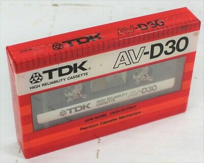 TDK  AV-D    46  BLANK CASSETTE  TAPE SEALED 1