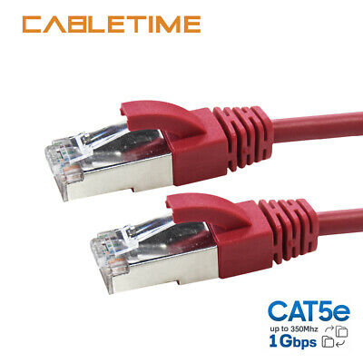 Cabletime CAT 5 Ethernet Cable Lan Network CAT6 Internet Modem Blue Patch Cord