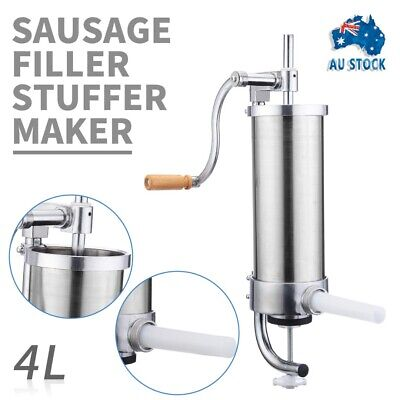 4L Sausage Filler Stuffer Maker Commercial 304 Stainless Steel Meat Machine AUS