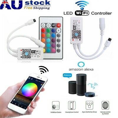 Smart WiFi Controller for 5050 3528 RGB RGBW LED Strip Light Alexa Google Home