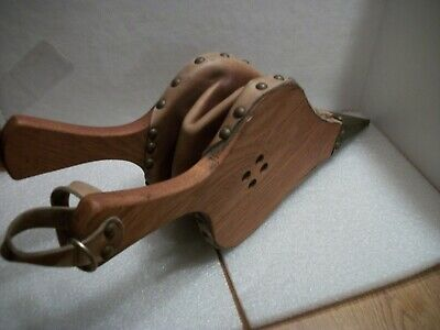 Vintage Hearth Fireplace Bellows Wood Leather