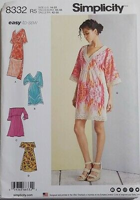 7447 Simplicity SEWING Pattern Misses Party Dress 6-22 UNCUT