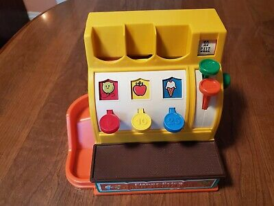 Vintage Fisher Price YELLOW 10 CENT COIN MONEY Replacement CASH REGISTER Dime