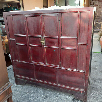 Antique Chinese Wedding Chest / Cabinet - large