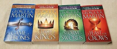 Set 4 GAME OF THRONES - Song of Ice and Fire Books GEORGE R R MARTIN 1 2 3 4 EUC