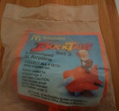 Vintage McDonald's Happy Meal Toy in packaging~ DuckTales Launchpad in Airplane