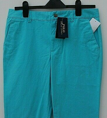 New boys age 16 years trousers POLO RALPH LAUREN Torquoise Blue Size 20 RRP £65