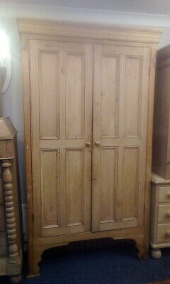 Antique Pine Victorian House Keepers Cupboard Linen Cupboard