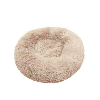 Pet Dog Cat Calming Bed Warm Plush Round Nest Comfy S Kennel Cave Sleeping D0W6