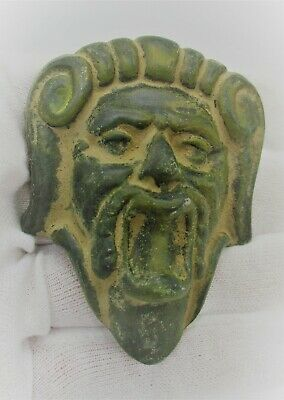 Detector Finds Ancient Roman Bronze Mount Face Of Silenus Circa 200-300Ad