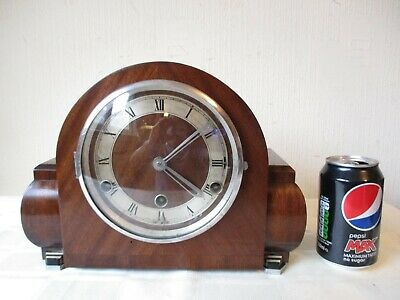 Fine Example Of An Art Deco Westminster Chiming Mantle Clock ( Working )