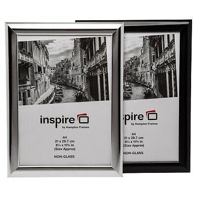 A4 Certificate Photo Frame Shiny Black Or Silver For Home Office Wall Or Table