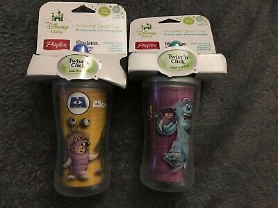 2 x Monsters Inc Insulated Spout Cup - 266ml Each