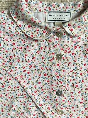 Liberty Print Floral Blouse By Darcy Brown Peter Pan Collar Trotters Princess