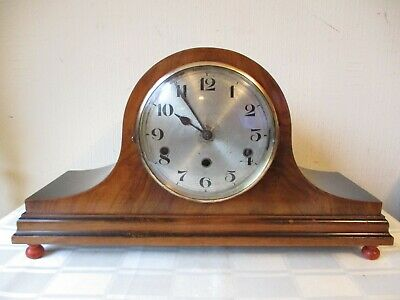 Antique Napoleon Hat Westminster Chiming Mantle Clock ( Working )