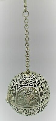 Beautiful Post Medieval Silver Openwork Amulet Astrological Object