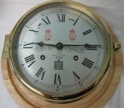Sewills of Liverpool Brass Ships Clock, Watch Secquence Strike, Key Wind