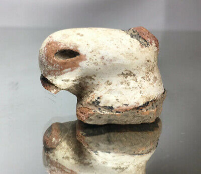 Pre-Columbian Polychrome Pottery Fragment Avian Supernatural Spirit Taino Art